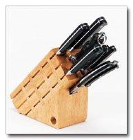 Maxam 8pc Cutlery in wood block