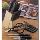 Diamond Cut Ultra 21pc Cutlery and Wood Block