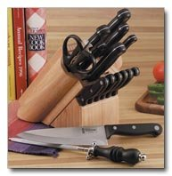 Slitzer 15pc Cutlery Set in Wood Block