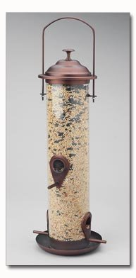 Wyndham House Bronze Colored Cylindrical Bird Feeder