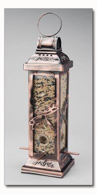 Wyndham House Bird Feeder with Dragonfly Designs on Each Side
