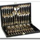 Sterlingcraft Goldplated Flatware Set With Ribbon Design