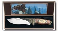 Maxam 11inch Hunting Knife With A Picture Of An Eagle On It
