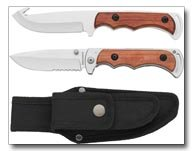 Maxam 2pc Hunting Knife Set with Sheath