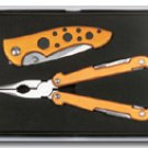 Maxam 2pc Plier tool and Lockback Knife set