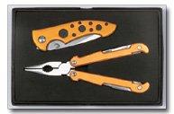 Maxam 2pc Plier tool and Lockback Knife set
