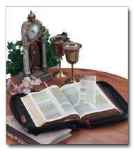 Embassy Italian Stone Design Genuine Leather Bible Cover