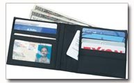 Embassy Mens Solid Genuine Leather Bi fold Wallet
