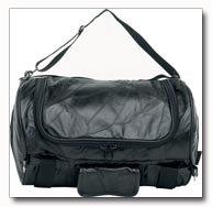 Diamond Plate Rock Design Genuine Buffalo Leather Motorcycle Barrel Bag