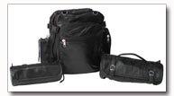 Diamond Plate Rock Design 3pc Genuine Buffalo Leather Motorcycle Bag Set