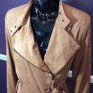 Women's Adrienne Vittadini Faux Suede Asymmetrical Jacket Size M