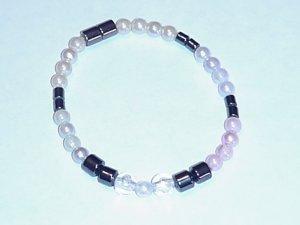 HEM2 - Magnetic Hematite - Bracelet or Anklet - 7 1/2 In