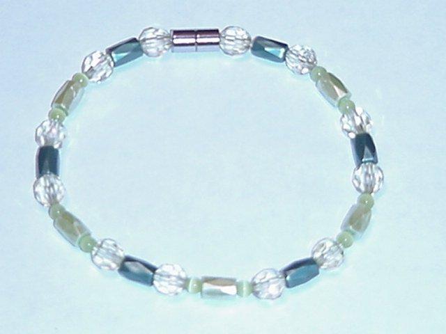 HEM3 - Magnetic Hematite - Bracelet or Anklet - 9 1/2 In