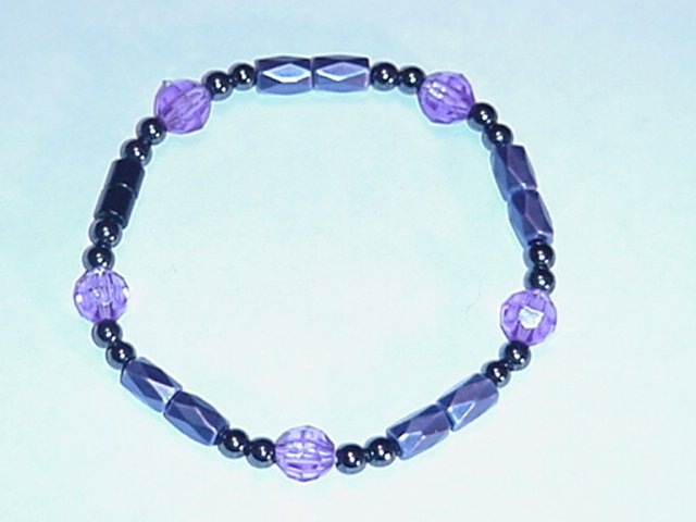 HEM5 - Magnetic Hematite - Bracelet or Anklet - 7 3/4 In