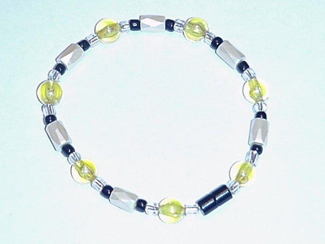 HEM13 - Magnetic Hematite - Bracelet or Anklet - 7 3/4 In