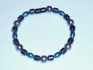 HEM14 - Magnetic Hematite - Bracelet or Anklet - 7 1/2 In