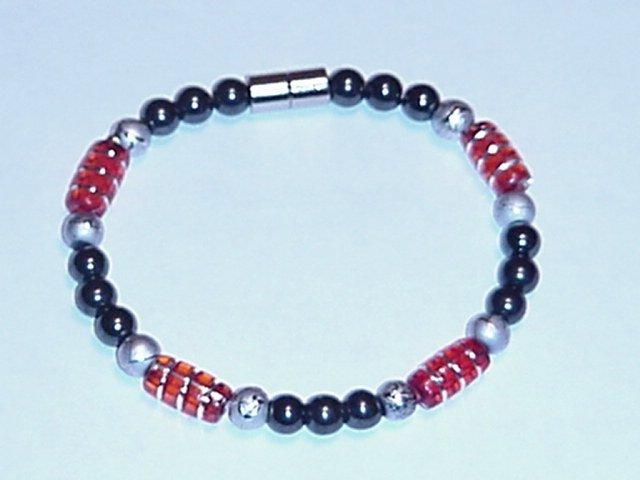 HEM24 - Magnetic Hematite - Bracelet or Anklet - 7 1/2 in.