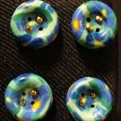 Button Set # 2 Polymer Clay Button Set of 4 - handmade from Polymer Clay by Treasure Vallie