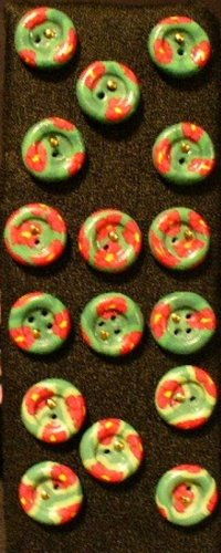 Button Set # 3 Polymer Clay Button Set of 16 - handmade from Polymer Clay by Treasure Vallie