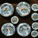 Button Set # 16 Polymer Clay Button Set of 9 - handmade from Polymer Clay by Treasure Vallie