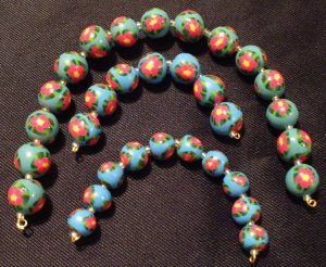 Set of 32 Beads # 23- Handmade from Polymer Clay by Treasure Vallie