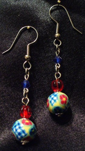 Earrings # 2- Polymer Clay Beads handmade by Treasure Vallie