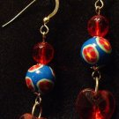 Sterling Silver Earrings # 5- Polymer Clay Beads handmade by Treasure Vallie