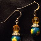 Sterling Silver Earrings # 6- Polymer Clay Beads handmade by Treasure Vallie