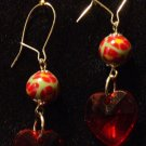 Sterling Silver Earrings # 8- Polymer Clay Beads handmade by Treasure Vallie