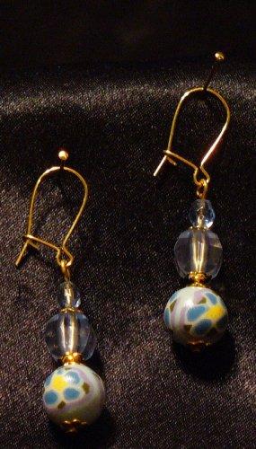 Earrings # 13- Polymer Clay Beads handmade by Treasure Vallie