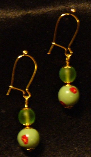 Earrings # 14- Polymer Clay Beads handmade by Treasure Vallie