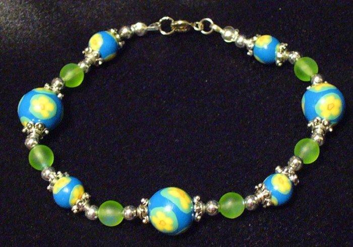 Bracelet # 1-Polymer Clay beads handmade by Treasure Vallie