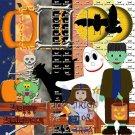 Halloween Digital Scrapbooking Kit 12x12