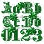 Fancy Green Alphabet Digital Scrapbook Kit