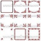 Fancy Red Digital Frames Set 1 for Scrap Booking