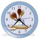 "Kitchen Wall Clock 10"" Diameter Plastic Frame and Face Cover Choice of 7 Colors"