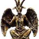 "Gold Baphomet Statue Goat Head 8"" God Wiccan Pagan  God Goddess Wicca Pagan"
