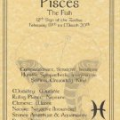 Pisces Zodiac Poster Parchment Horoscope Poster Pisces Parchment Poster
