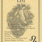 Leo Zodiac Poster Parchment Horoscope Poster Leo Parchment Poster