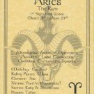 Aries Zodiac Poster Parchment Horoscope Poster Aries Parchment Poster