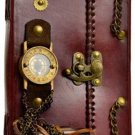 Steampunk Leather Blank Book w/ Latch Steampunk Journal Steampunk Diary