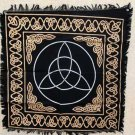 Altar Cloth Celtic Knot Altar Cloth - Triquetra Wiccan Tarot Card Wrap Pagan