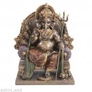 Ganesh On Throne Elephant God of New Beginnings Deity Remove Obstacles Hindu