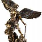 """St. Michael Bronze Statue Guardian Angel Archangels 14 """" Saint Michael"""