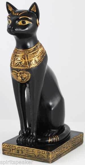 Bast Statue Huge Goddess Bastet Egyptian Goddess Black Cat