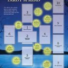TAROT GUIDE SHEET ANCIENT 10-CARD CELTIC CROSS SPREAD SPREADSHEET DIVINERS AID