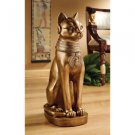 "Goddess Bast Exclusive 21"" Hand Painted ©Golden Bastet Of Ancient Egypt Statue"