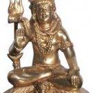 Meditation Shiva Statue Hindu God Lord Nataraja Figure Brass Diety Sculpture