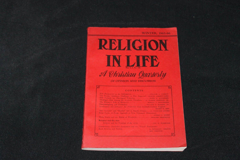 1965-66 RELIGION IN LIFE Christian Quarterly Jesus God religion theology religious reading issues