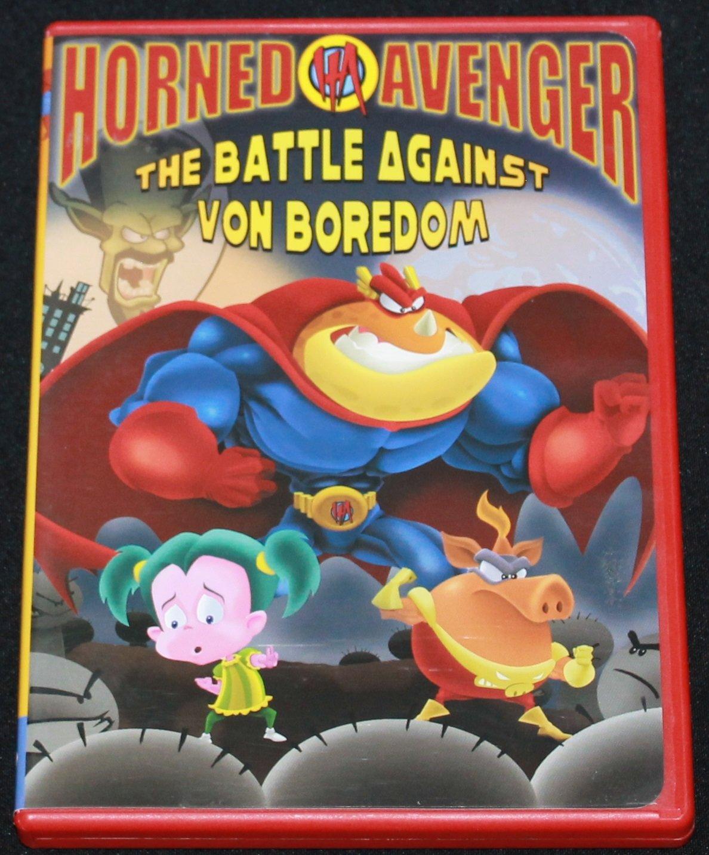 HORNED AVENGER DVD Christian Animated Cartoon Battle Von Boredom Animation Movie Dvd Kids
